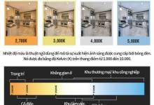 Sự khác nhau giữa 3 mức nhiệt độ màu ánh sáng phổ biến trong Đed LED công nghiệp