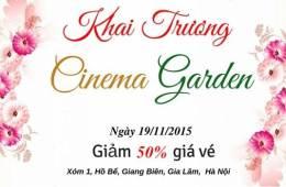Thông báo khai trương phim trường Cinema Garden