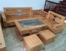 Salon gỗ tự nhiên giá rẻ