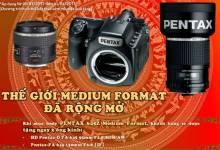 Thế giới Medium Format rộng mở cùng Pentax 645Z