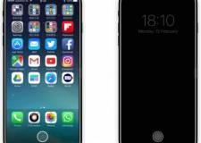 Ảnh mô phỏng iPhone 8 với chức năng ảo, thay đổi theo ngữ cảnh, cảm biến vân tay trên màn hình