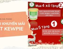 Siêu Khuyến Mãi Kewie Dành Cho Xốt Mayonnaise Base Type Horeca (Xô 3kg) và Xốt Mè Rang (Chai 1L)