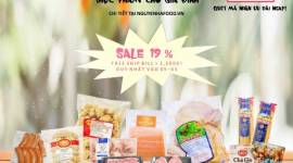 Mừng 8/3 FLASH SALE khủng 19% - Duy nhất 1 ngày cho thực phẩm gia đình