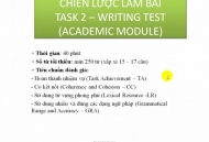 CHIẾN THUẬT CHUNG LÀM IELTS WRITING TASK 2 - PHẦN 1