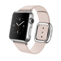 Apple Watch 38mm Stainless Steel Case with Soft Pink Modern Buckle