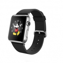 Apple Watch 38mm Stainless Steel Case with Midnight Black Modern Buckle