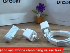 Phân biệt củ sạc iPhone chính hãng và sạc fake - USCOM