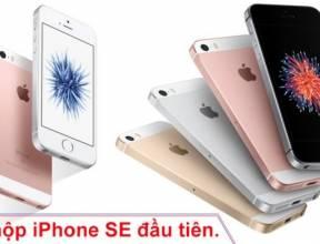 Đập hộp iPhone SE đầu tiên
