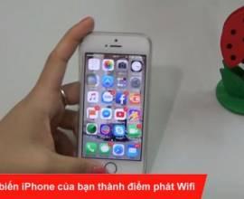 5 bước để biến iPhone của bạn thành điểm phát Wifi